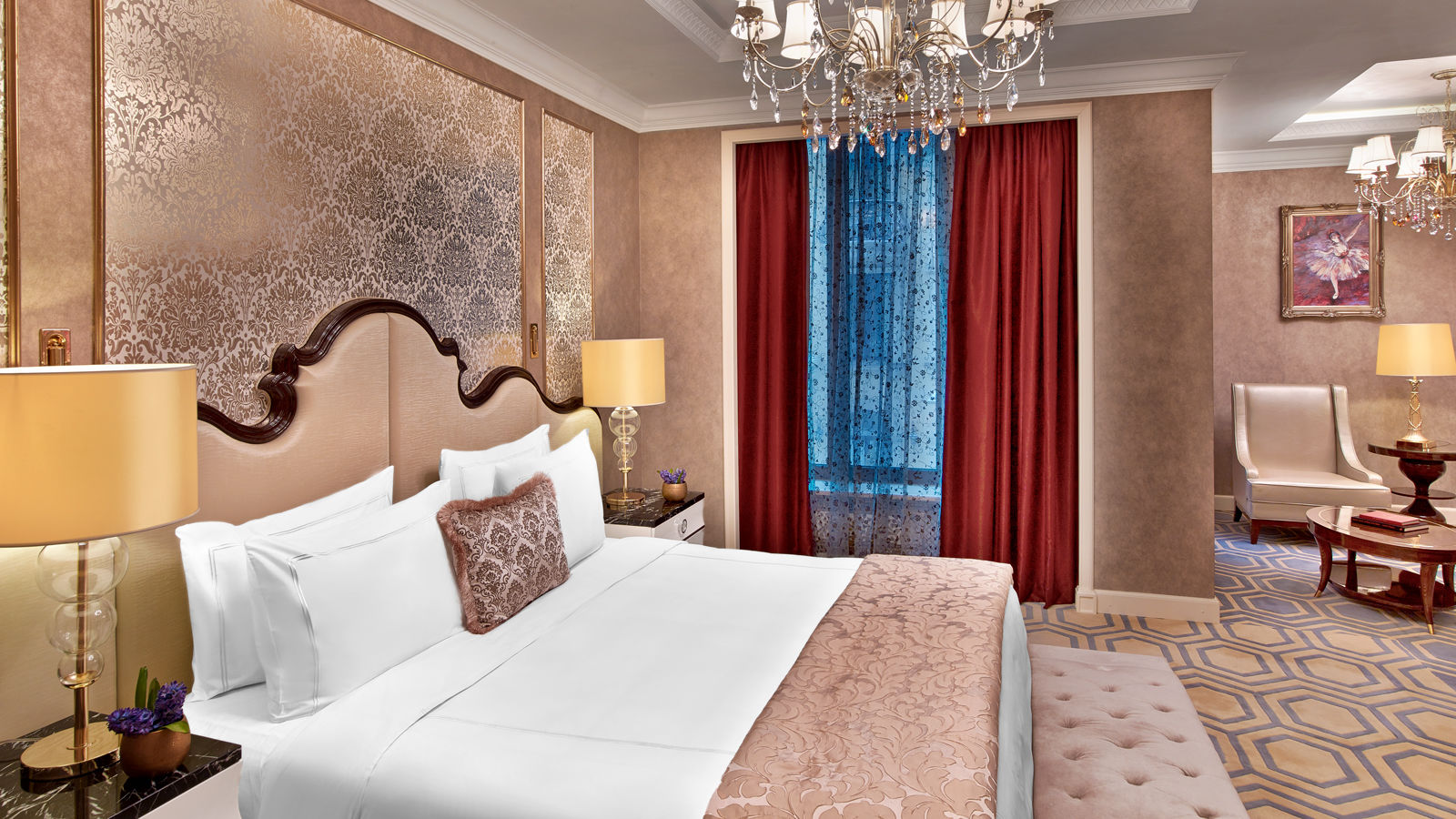 Luxury Five-Star Hotels in Moscow | The St. Regis Moscow Nikolskaya | Deluxe Room | Bed Detail