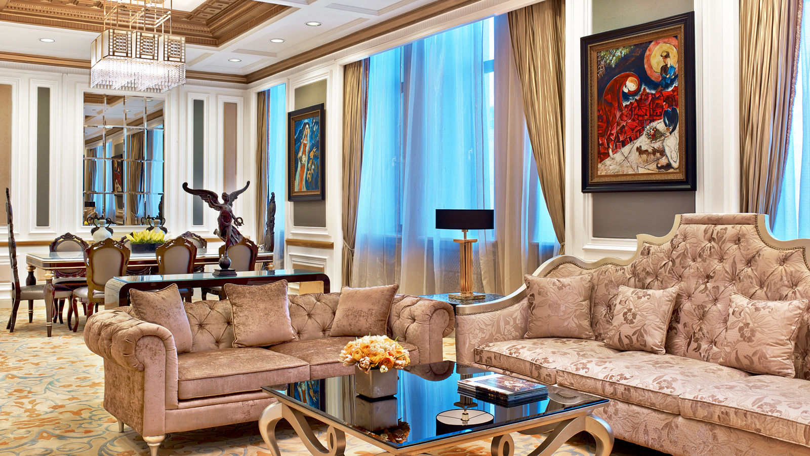 Luxury Five-Star Hotels in Moscow | The St. Regis Moscow Nikolskaya | Presidential Suite Living Room