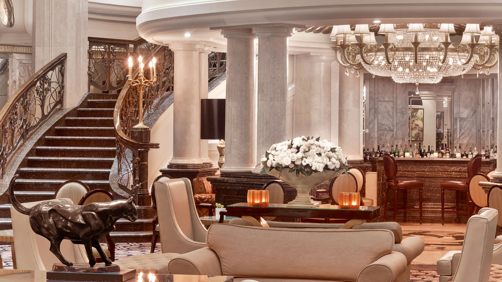 Luxury Five-Star Hotels in Moscow | The St. Regis Moscow Nikolskaya | Lobby Lounge Orlov